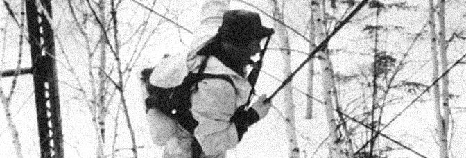 A scene from SKI TROOP ATTACK, directed by Roger Corman for The Filmgroup.