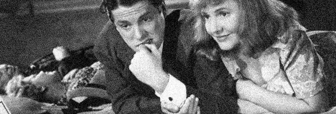 Robert Cummings and Jean Arthur star in THE DEVIL AND MISS JONES, directed by Sam Wood for RKO Radio Pictures.
