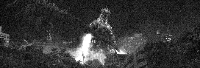 A scene from GODZILLA AGAINST MECHAGODZILLA, directed by Tezuka Masaaki for Toho Company Ltd.
