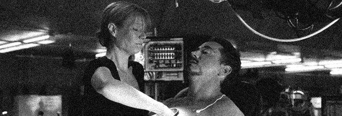Gwyneth Paltrow and Robert Downey Jr. star in IRON MAN, directed by Jon Favreau for Paramount Pictures.