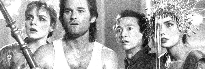 Kim Cattrall, Kurt Russell, Dennis Dun and Suzee Pai are in BIG TROUBLE IN LITTLE CHINA, directed by John Carpenter for 20th Century Fox.