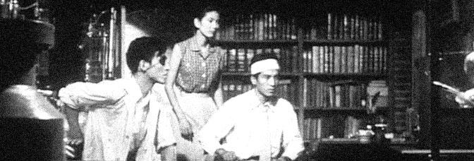 Akihiko Hirata, Momoko Kōchi, and Akira Takarada star in GODZILLA (Gojira), directed by Ishirô Honda for Toho Company Ltd.