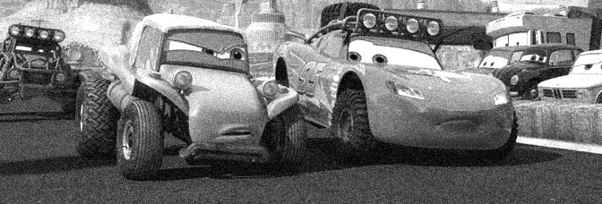 A scene from THE RADIATOR SPRINGS 500½, directed by Rob Gibbs and Scott Morse for Walt Disney Pictures.