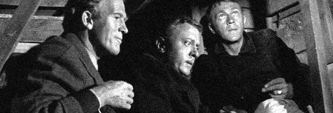 Gordon Douglas, Richard Attenborough, and Steve McQueen star in THE GREAT ESCAPE, directed by John Sturges for United Artists.