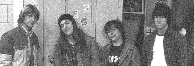 Sam Huntington, James DeBello, Edward Furlong, and Guiseppe Andrews star in DETROIT ROCK CITY, directed by Adam Rifkin for New Line Cinema.