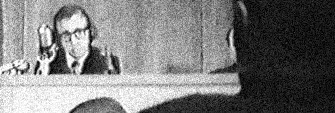Woody Allen stars in MEN OF CRISIS: THE HARVEY WALLINGER STORY, directed by Allen.