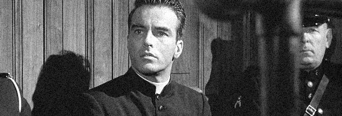 Montgomery Clift stars in I CONFESS, directed by Alfred Hitchcock for Warner Bros.