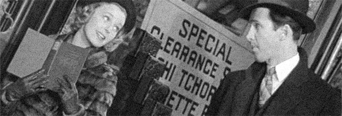 Margaret Sullavan and James Stewart star in THE SHOP AROUND THE CORNER, directed by Ernst Lubitsch for Metro-Goldwyn-Mayer.
