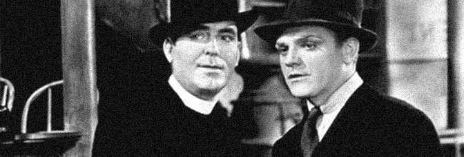 Pat O'Brien and James Cagney star in ANGELS WITH DIRTY FACES, directed by Michael Curtiz for Warner Bros.
