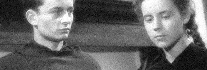 Claude Laydu and Nicole Ladmiral star in DIARY OF A COUNTRY PRIEST (Journal d'un curé de campagne), directed by Robert Bresson for L'Alliance Générale de Distribution Cinématographique.