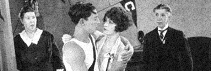 Buster Keaton, Anne Cornwall and Snitz Edwards star in COLLEGE, directed by James W. Horne for United Artists.
