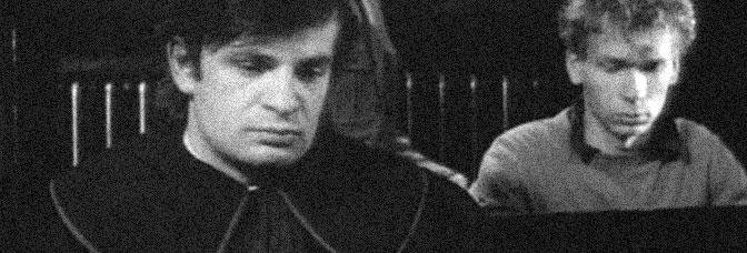Krzysztof Globisz and Miroslaw Baka star in THE DECALOGUE: FIVE (Dekalog, piec), directed by Krzysztof Kieslowski for Warner Bros.