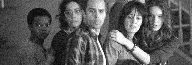 Susan Heyward, Jane Adams, Sam Rockwell, Rosemarie DeWitt and Saxon Sharbino star in POLTERGEIST, directed by Gil Kenan for 20th Century Fox.