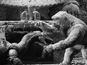 A scene from SON OF KONG.