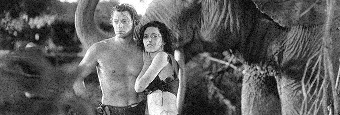 Johnny Weissmuller and Maureen O'Sullivan star in TARZAN AND HIS MATE, directed by Cedric Gibbons for Metro-Goldwyn-Mayer.