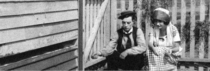 Buster Keaton and Sybil Seely star in THE SCARECROW, directed by Edward F. Cline and Keaton for Metro Pictures Corporation.