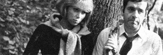 Mireille Darc and Jean Yanne star in WEEKEND (Week-End), directed by Jean-Luc Godard for Athos Film.