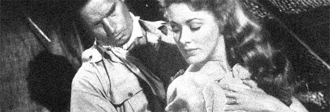 Charlton Heston and Eleanor Parker star in THE NAKED JUNGLE, directed by Byron Haskin for Paramount Pictures.