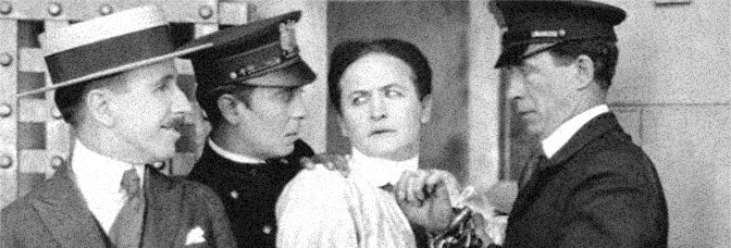 Arthur Hoyt and Harry Houdini star in THE GRIM GAME, directed by Irvin Willat for Paramount Pictures.