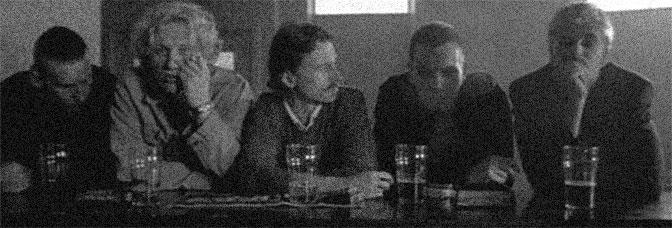 Ewan Bremner, Kevin McKidd, Robert Carlyle, Ewan McGregor, and Jonny Lee Miller star in TRAINSPOTTING, directed by Danny Boyle for Miramax Films.