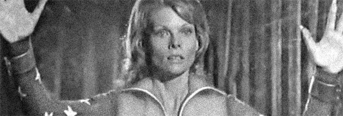 Cathy Lee Crosby stars in WONDER WOMAN, directed by Vincent McEveety for ABC.