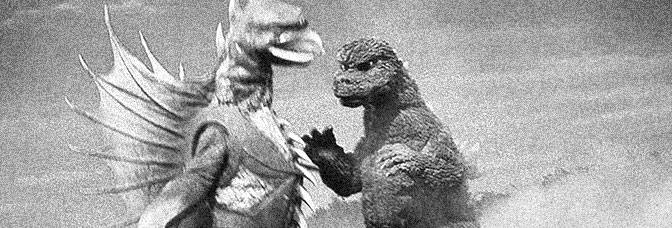 A scene from GODZILLA VS. MEGALON, directed by Fukuda Jun for Toho Company Ltd.