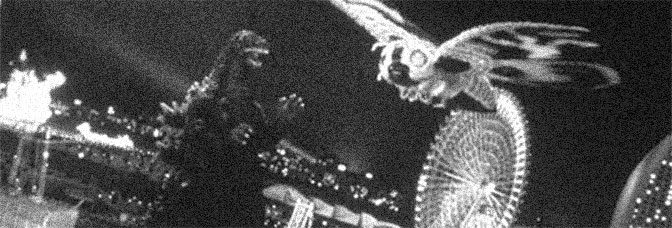 A scene from GODZILLA VS. MOTHRA, directed by Okawara Takao for Toho Company Ltd.