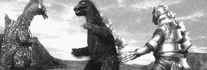 A scene from TERROR OF MECHAGODZILLA, directed by Honda Ishirô for Toho Company Ltd.