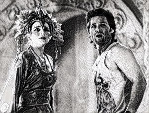 Kim Cattrall and Kurt Russell have found some BIG TROUBLE IN LITTLE CHINA. Wokka wokka.