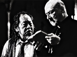 Victor Wong and Donald Pleasence try to battle the PRINCE OF DARKNESS with knowledge.