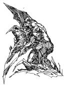 Pterodactylus. Richard Powers illustration